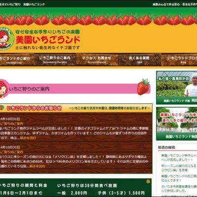 美園いちごランド料金表ページ