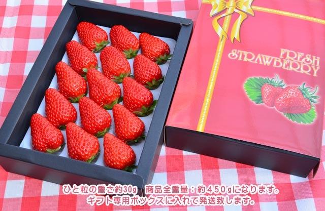 紅ほっぺデラックスパック 15粒入【ギフトBOX入】 1,800円